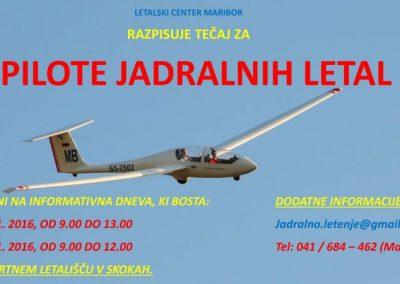 Informativni dan za šolanje pilotov jadralnih letal