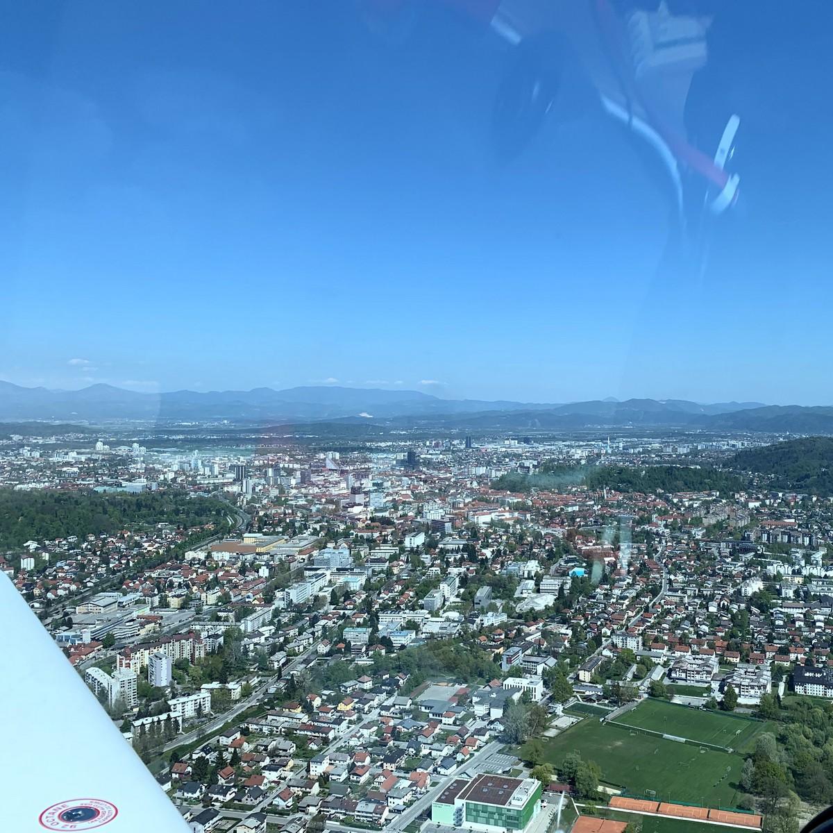 Polet nad Ljubljano