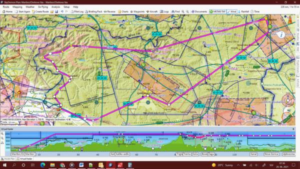 Polet preko Triglava in soče z UL letalom